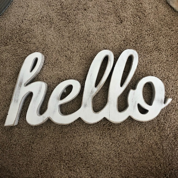 Other - Wooden hello sign